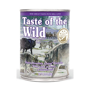 Taste of the Wild Sierra Mountain Canine Canned Formula with Lamb in Gravy 13.2oz