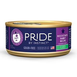 Pride Rockstar's Rabbit Flaked Canned Cat Food