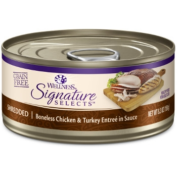 Wellness CORE® Signature Selects® Shredded Chicken & Turkey Canned Cat Food