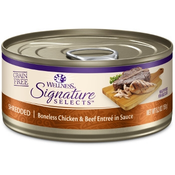 Wellness CORE® Signature Selects® Shredded Chicken & Beef Canned Cat Food