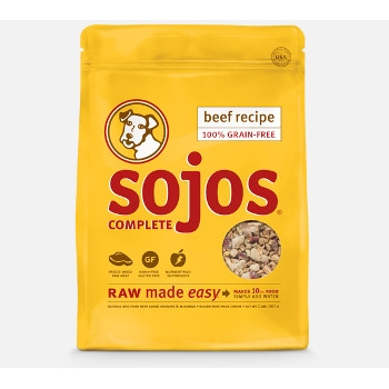 Sojos Complete Grain Free Freeze Dried Beef Dog Food
