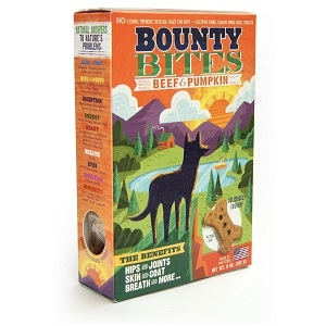 Bounty Bites Grain Free Beef & Pumpkin Baked Dog Treats