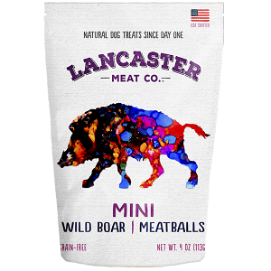 Lancaster Meat Co. Wild Boar Mini-Meatballs Dog Treats