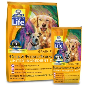 Lucy Pet's Duck and Potato Limited Ingredient Diet For Dogs