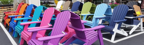 Check out our Poly Folding Adirondack Chairs
