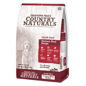 Grandma Mae's Country Naturals Grain Free Venison Meal Dry Dog Food