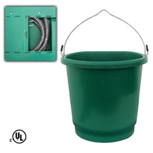 Heated 5-gallon Flat-Back Bucket