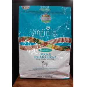 Infinia® Grain Free Duck & Potato Dog Food