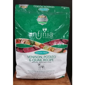 Infinia® Grain Free Venison, Potato & Quail Dog Food