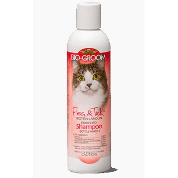 Bio-Groom Flea & Tick Cat Shampoo, 8 oz.