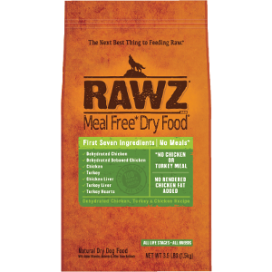 Meal Free Dry Dog Food Dehydrated Chicken, Turkey & Chicken Recipe 3.5#