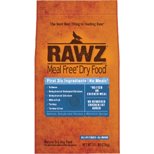 Meal Free Dry Dog Food Salmon, Dehydrated Chicken & Whitefish Recipe 3.5#