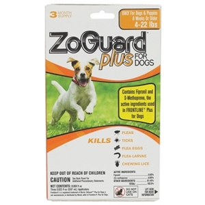 ZoGuard Plus Flea & Tick Drops For Dogs 5-22 lbs