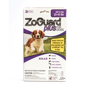 Zoguard Plus Flea & Tick Drops For Dogs 23-44 lbs