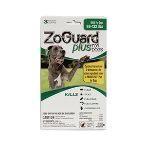 ZoGuard Plus Flea & Tick Drops for Dogs 89-132 lbs