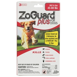 ZoGuard Plus Flea & Tick Drops for Dogs 45-88 lbs