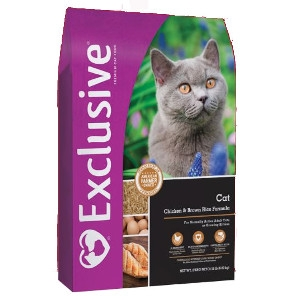 Exclusive® Cat Food Chicken & Brown Rice Formula 15#