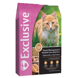 Exclusive® Adult Cat Weight Management & Hairball Care 15#