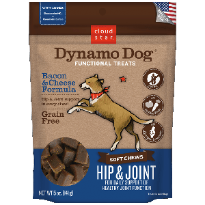 Dynamo Dog Functional Soft Chews Hip & Joint Bacon & Cheese
