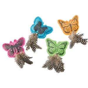 Whiskins Felt Butterfly Cat toy