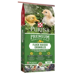 Purina Flock Raiser Premium Poultry Feed - Crumbles