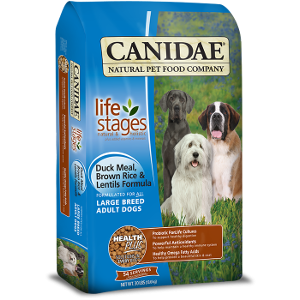 Canidae All Life Stages Large Breed Adult Dog Food With Duck Meal, Brown Rice and Lentils