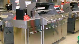image of gas grills in store