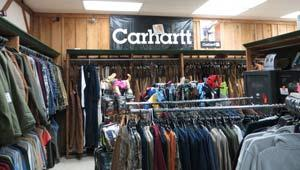 in store image of clothing area