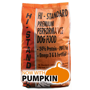 Hi-Standard Premium Performance Dog Food with Pumpkin 50 lb. 30/20