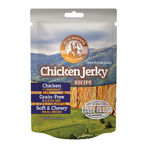 Hi-Standard Grain Free Chicken Jerky Dog Treats 12oz