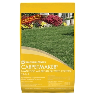 Southern States® Carpetmaker® Lawn Food with Broadleaf Weed Control 28-0-4