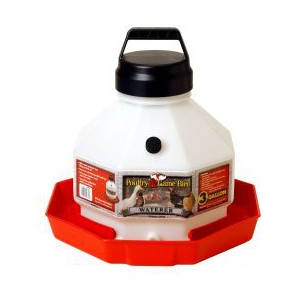 3 Gallon Plastic Poultry Waterer