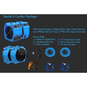 Radial 8 Bed Bug Heater Combo Package