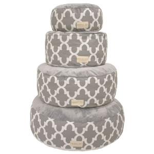 Original Digs Pet Pouf- Grey Lattice