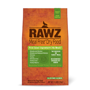 Rawz Dehydrated Chicken, Turkey and Chicken Recipe For Dogs