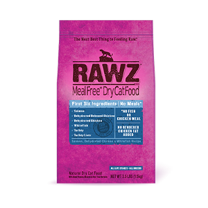 Rawz Salmon, Dehydrated Chicken and Whitefish Recipe For Cats