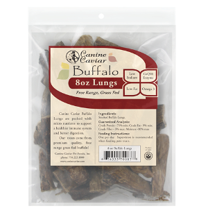 Canine Caviars All Natural Buffalo Lung Dog Treats