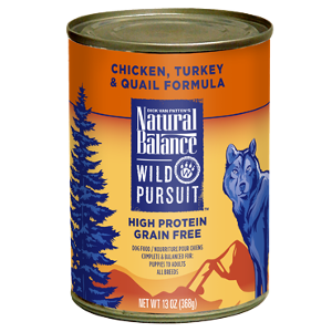 Wild Pursuit™ Chicken, Turkey & Quail Canned Dog Formula