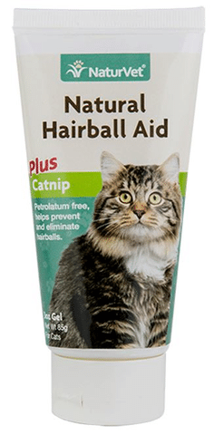 NaturVet Natural Hairball Aid with Catnip Cat Gel