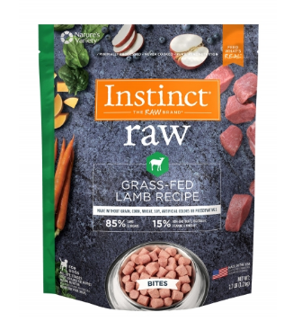 Instinct® Raw Frozen Bites Grass-Fed Lamb Recipe