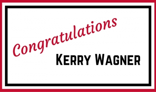 Congrats to Kerry Wagner