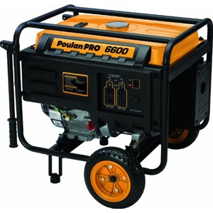 Poulan Generator 6600w on Wheel Kit
