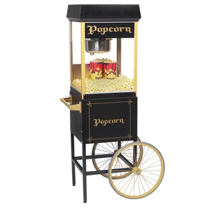 Black Popcorn Popper With Cart