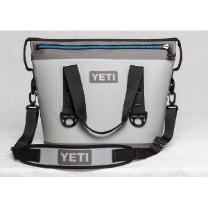 YETI Hopper Two 20 Cooler in Fog Gray & Tahoe Blue