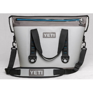 YETI Hopper Two 30 Cooler in Fog Gray & Tahoe Blue