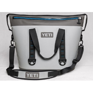YETI Hopper Two 40 Cooler in Fog Gray & Tahoe Blue