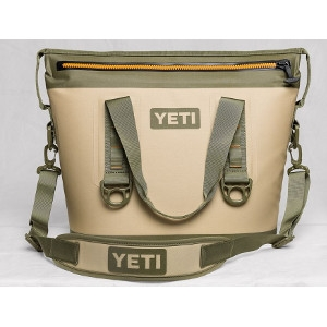 YETI Hopper Two 20 Cooler in Field Tan & Blaze Orange