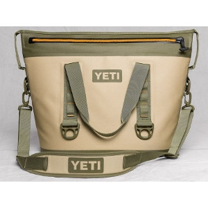 YETI Hopper Two 30 Cooler in Field Tan & Blaze Orange