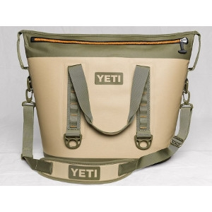 YETI Hopper Two 40 Cooler in Field Tan & Blaze Orange