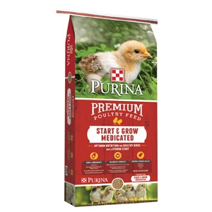 Purina® Start & Grow® Medicated Chick Starter with AMP .0125 - 25lbs.